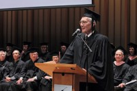 Arnold Giving Colbourn Commencement Speech