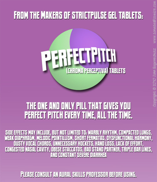 Perfect Pitch Tablets from Tone Deaf Comics