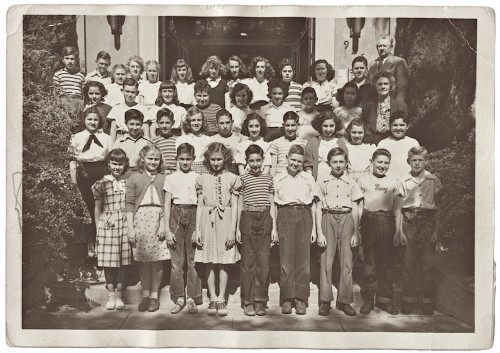 Arnold Steinhardt Sixth Grade Class Photo