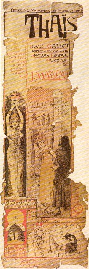 Poster for Massenet's Thais