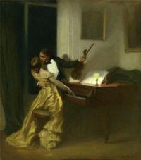 Kreutzer Sonata, painting by René François Xavier Prinet