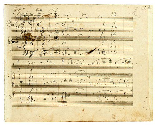 Manuscript of Beethoven's Grosse Fuge