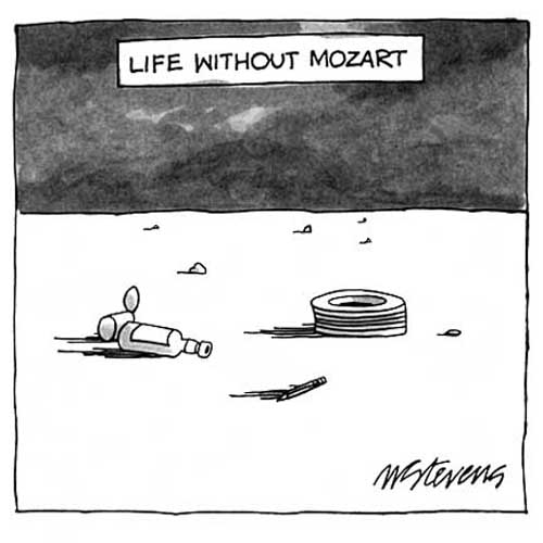 The New Yorker, Life Without Mozart Cartoon